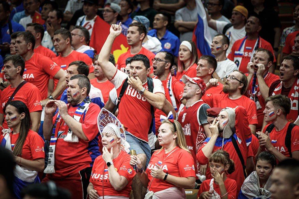 Болельщики баскетбольной сборной России