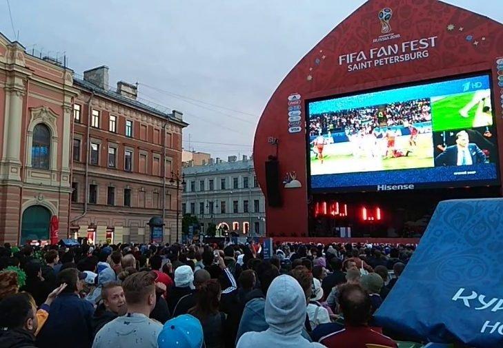 Фан-зона чемпионата мира 2018 года в Санкт-Петербурге
