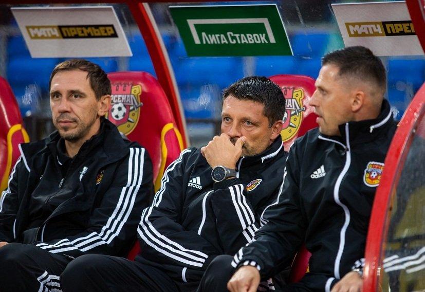 Тульский «Арсенал» продлит контракты со штабом Черевченко