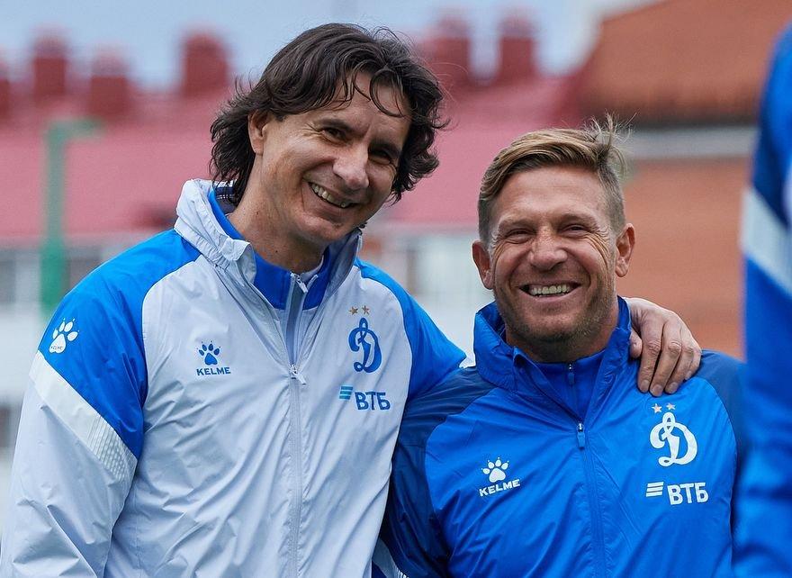 Тренеры «Динамо» Сандро Шварц и Андрей Воронин