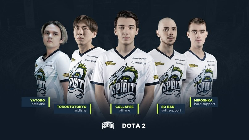 Team Spirit подписала состав Yellow Submarine по Dota 2