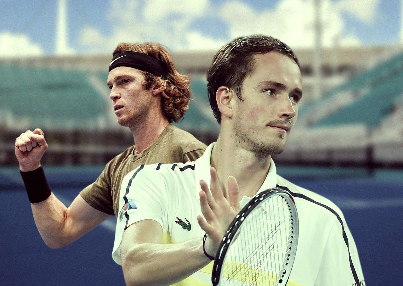 В Майами начался теннисный «Мастерс». На победу Медведева и Рублева дают самые высокие котировки