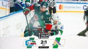 «Ак Барс» в овертайме обыграл «Салават Юлаев» и повел в серии 2-0