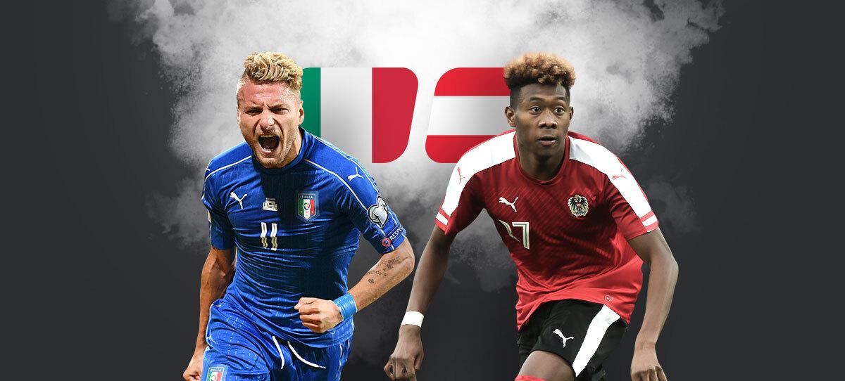 Италия — Австрия: прогнозы, ставки и коэффициенты. В России 96% игроков ставят на итальянцев