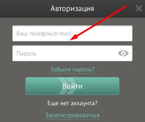 Форма авторизации в мобильном приложении Pin-Up bet для iOS