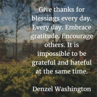 The Month of Thanksgiving: Denzel Washington on Giving Thanks
