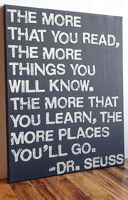 Dr Seuss on Reading