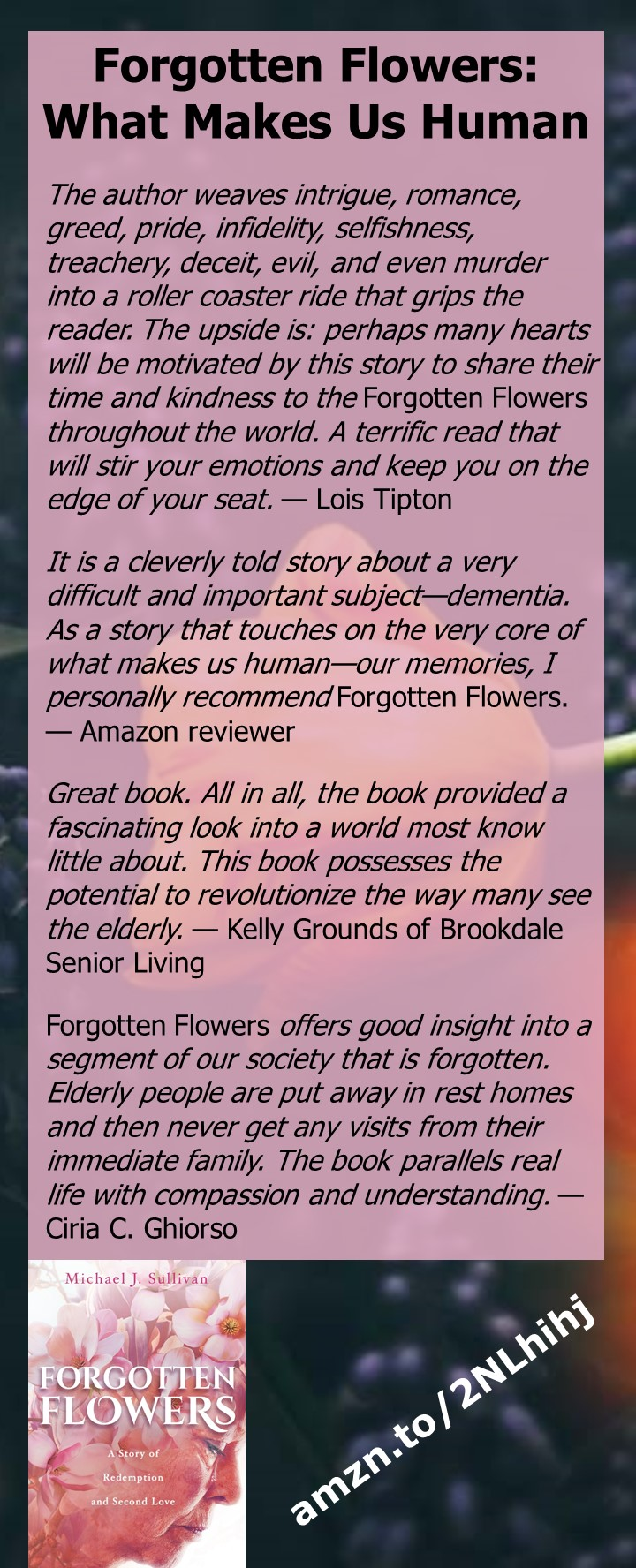 Forgotten Flowers by Michael Sullivan - A novel of family and dementia