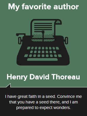 Henry David Thoreau, author of Walden