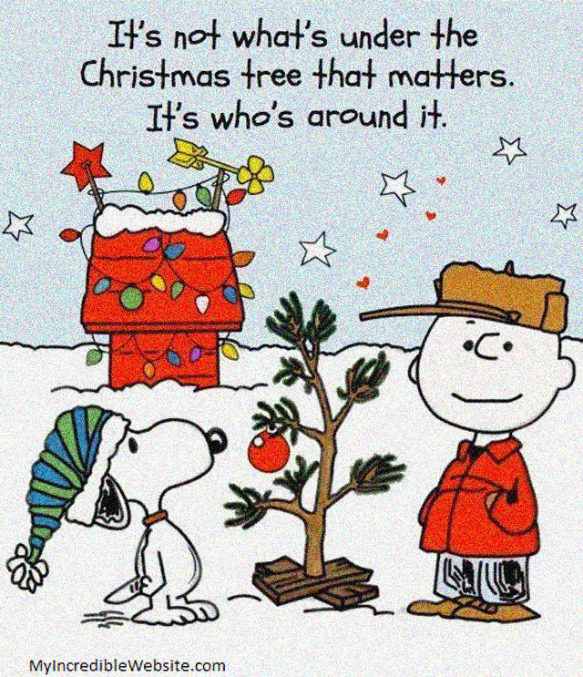 Christmas Tree Thoughts by Peanuts