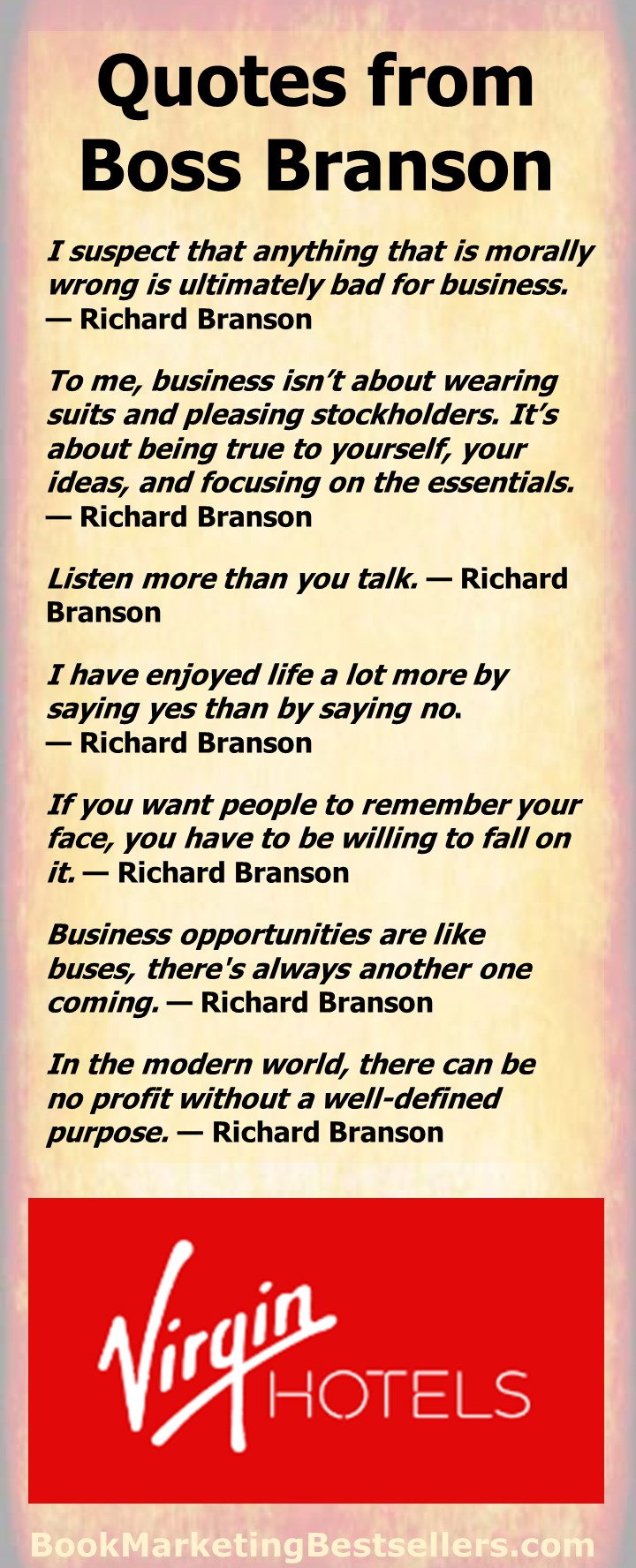 Business Quotes from Richard Branson - business quotations from Richard Branson, billionaire founder of the Virgin Group. You can learn a lot from these simple business observations.