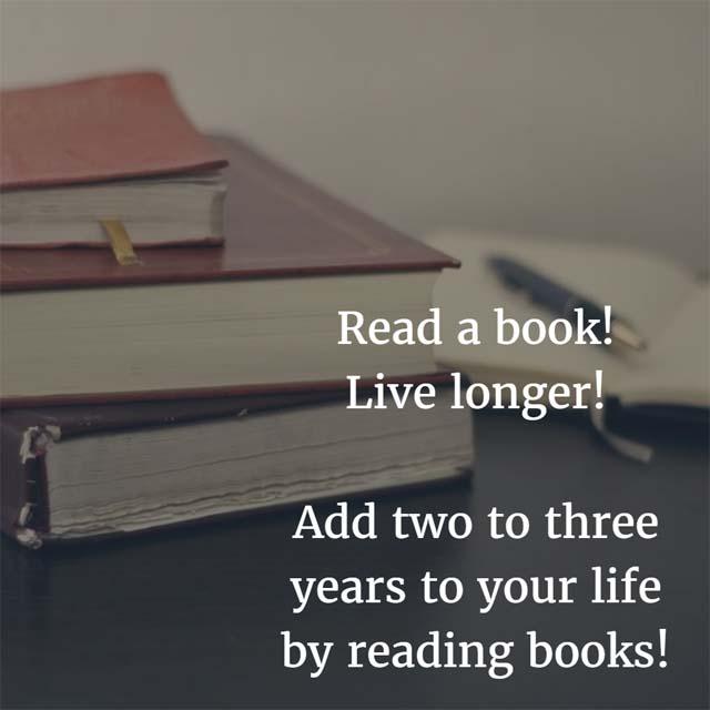Read a book; live longer.