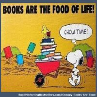 Snoopy: Books Are Food