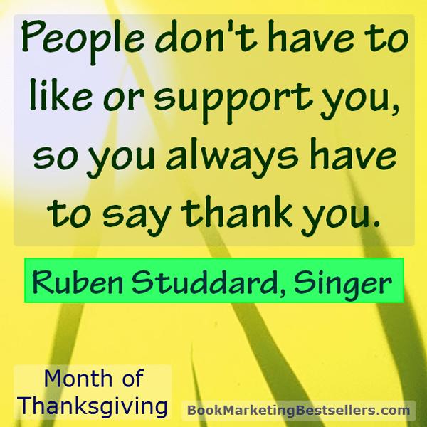 Ruben Studdard on Saying Thank You