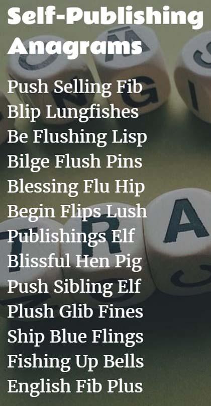 Self-Publishing Anagrams