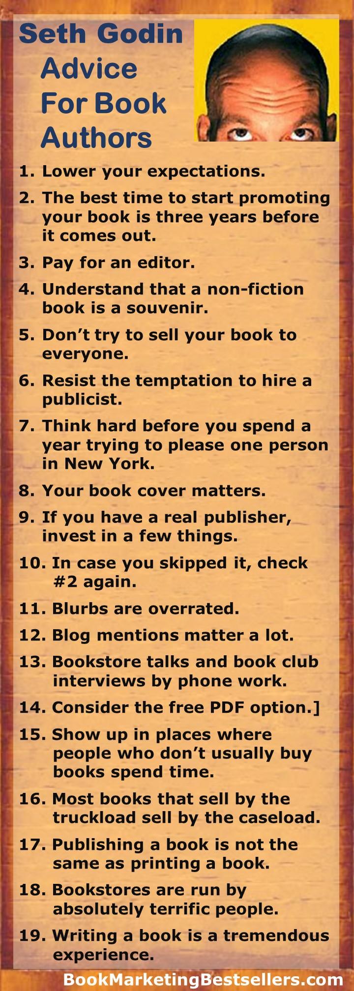 Seth Godin: Advice for Book Authors