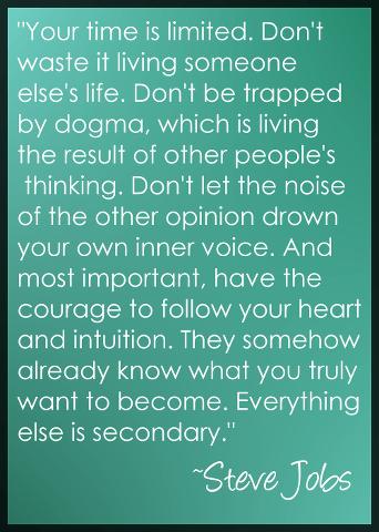 Steve Jobs on Following Your Heart