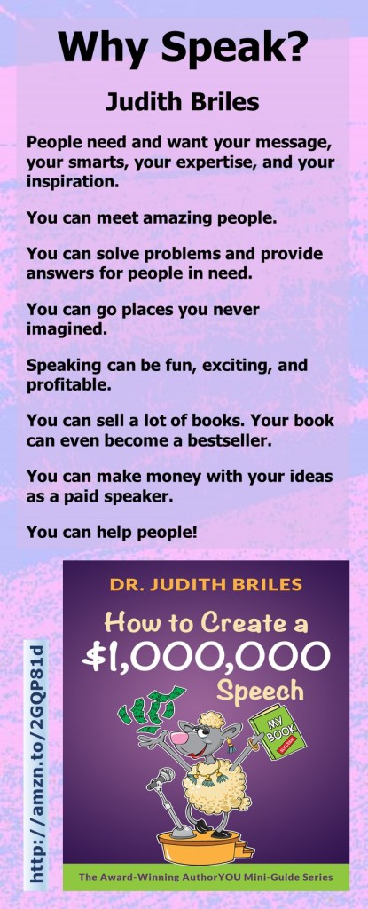 Judith Briles, author of How to Create a $1,000,000 Speech