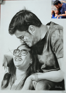 Couple Charcoal Sketch