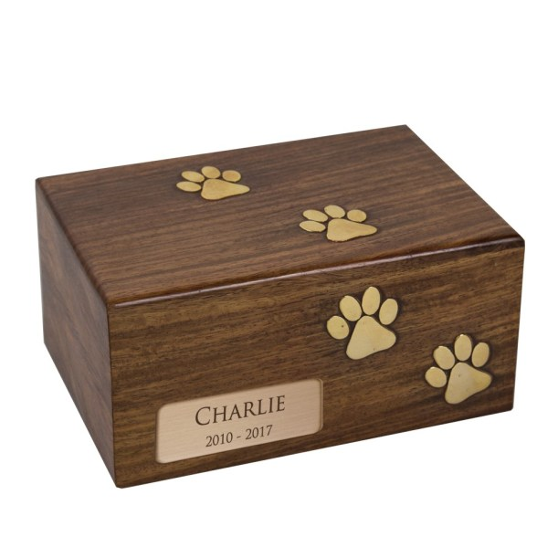 Personalized cremation urn as pet loss gift