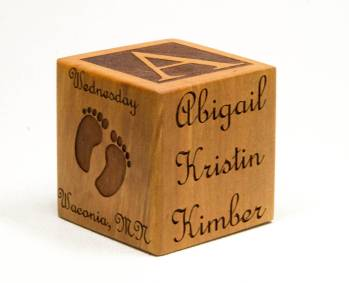Personalized Wooden Block