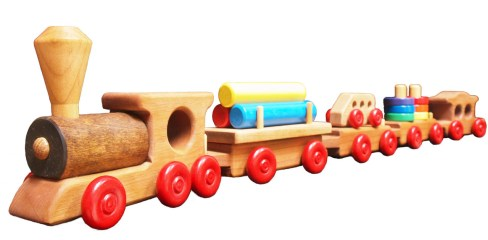 Wooden Train as baby's first birthday gift ideas