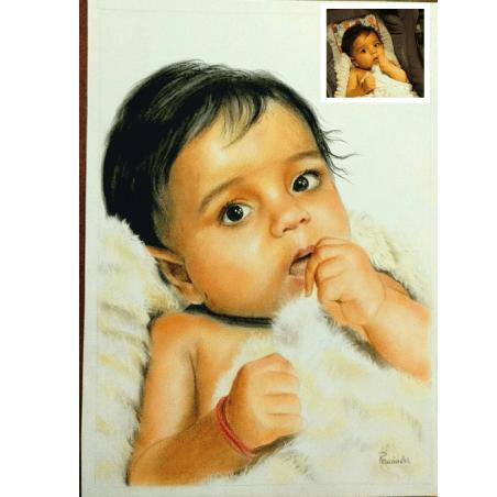 Handmade Baby Oil Portrait (Gift for Boyfriend)