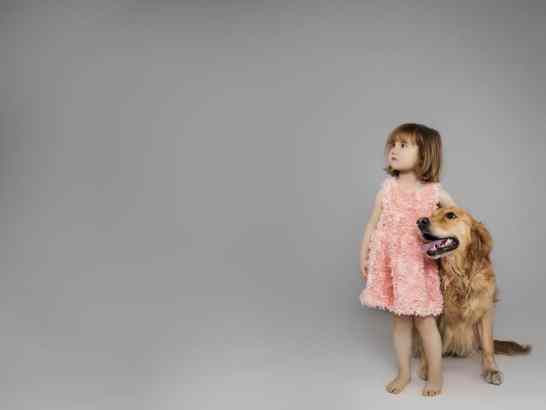 Kids and Dogs (Dog Portraits from Photos)