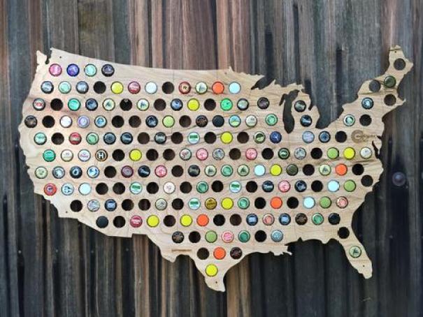Bottle Cap Map America