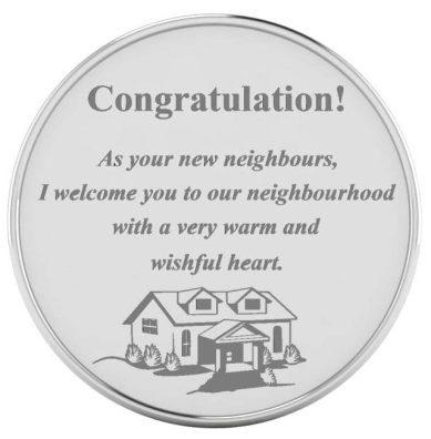Custom Silver coins as housewarming gifts