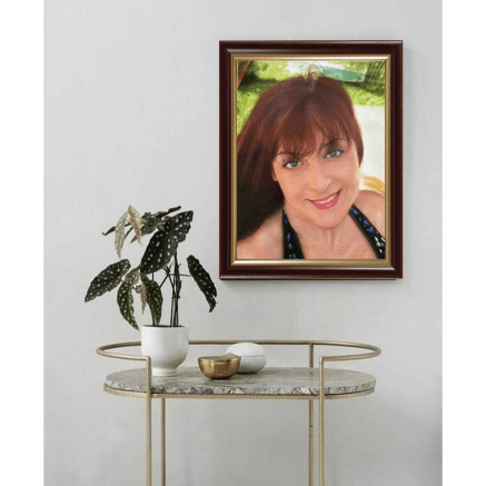 A Hand-painted Portrait (Dining Room Decoration)