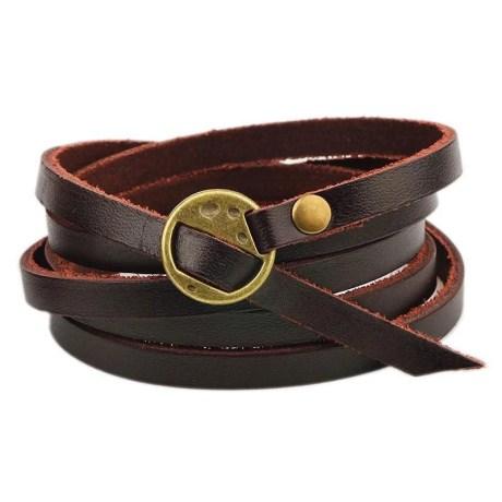 A Plain Leather Bracelet