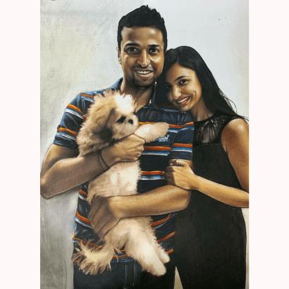 Mixed Media Pet Portrait