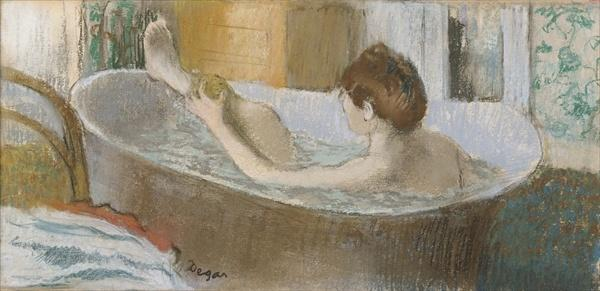 Woman in her Bath sponging her Legs (famous paintings of women)