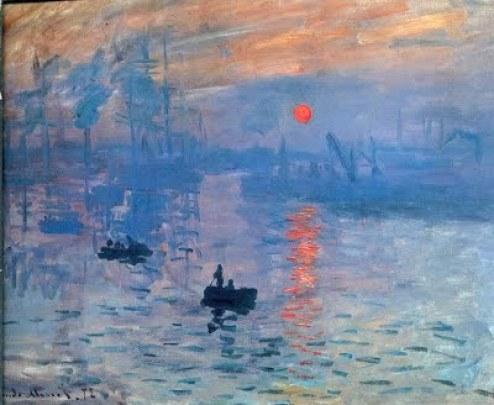 Impression, Sunrise- Claude Monet (famous landscape paintings)