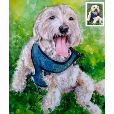 Pet Watercolor Portrait