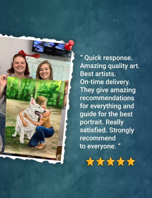 Customer Feedback Oil Painting BookMyPainting