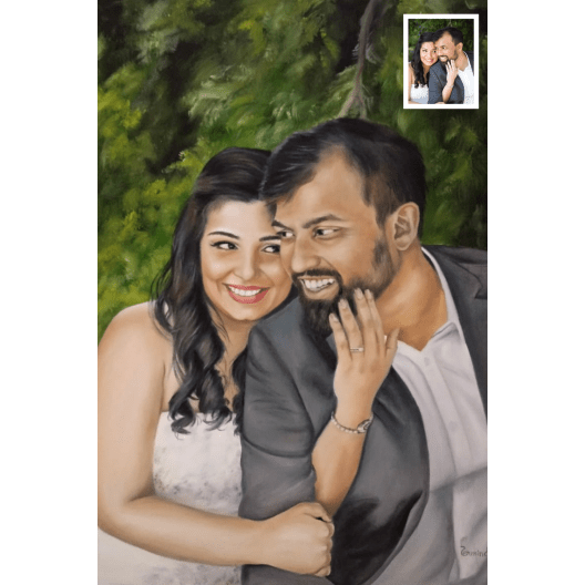 A Handmade Couple Portrait from BookMyPainting