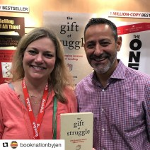 Author of The Gift of Struggle, Bobby Herrera and Jennifer Blankfein
