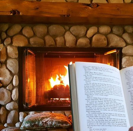 book by the fire