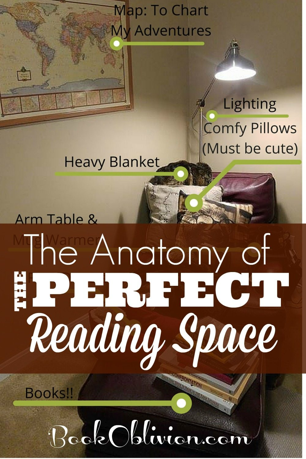 Heavy blanket, novel teas, lighting, and more. Here are all the essentials of the perfect reading nook.