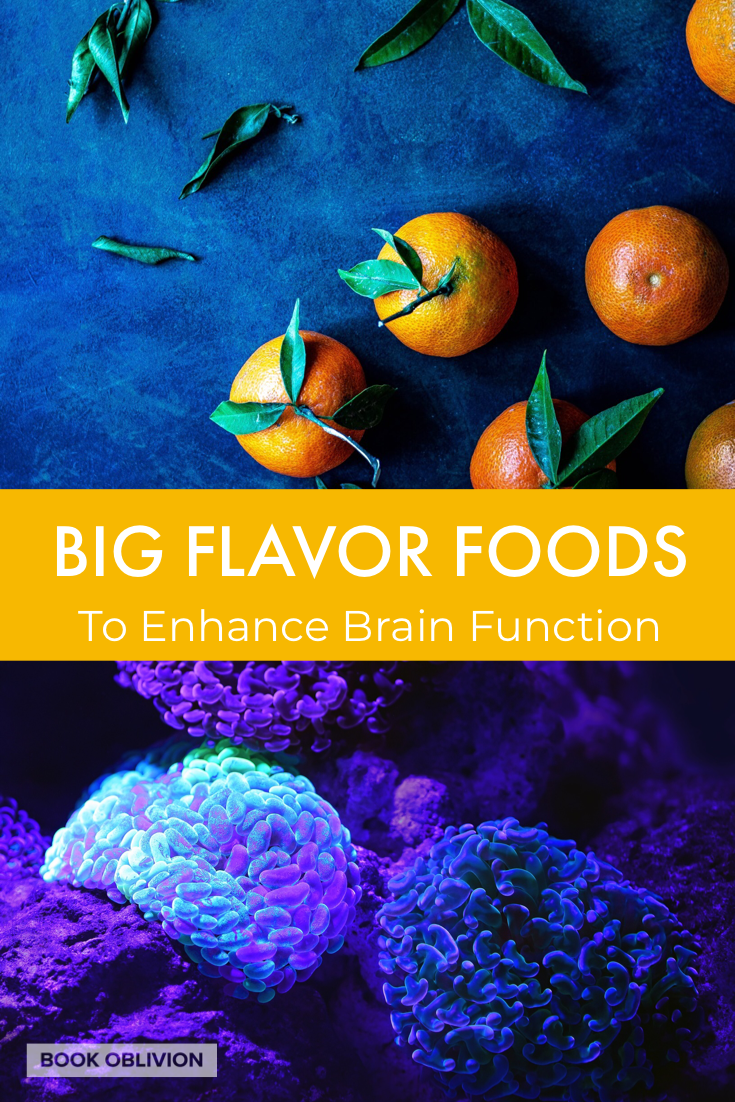 Here is a cookbook for your mind and a list of 80+ foods to enhance brain function, mood, memory, and mental clarity.