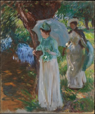Two Girls with Parasols (John Singer Sargent, 1888)