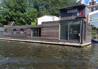 Beautiful houseboats of Amsterdam