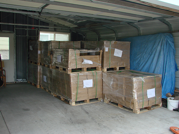 Pallets of 6th printing books
