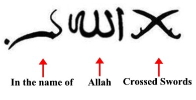 "The Arabic for ""In the name of Allah"""