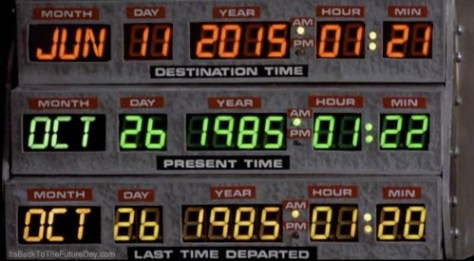 back to the future June 11, 2015