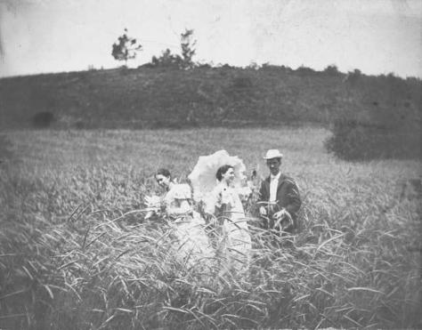 Three Friends in a Field