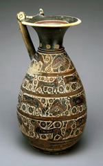 Olpe (wine pitcher), 6th century BCE