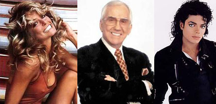 Farrah Fawcett and Ed McMahon and Michael Jackson